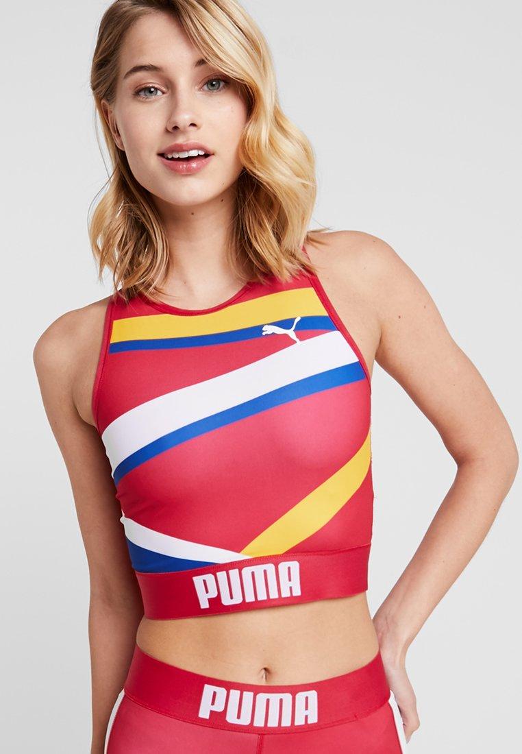 Puma - CROP - Sport BH - lipstick red