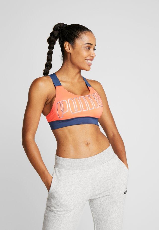 FEEL IT BRA - Sports bra - fizzy orange/dark denim