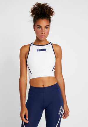 PAMELA  REIF X PUMA CROP TOP - Sports shirt - white