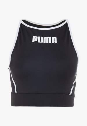 PAMELA  REIF X PUMA CROP TOP - Sports shirt - black