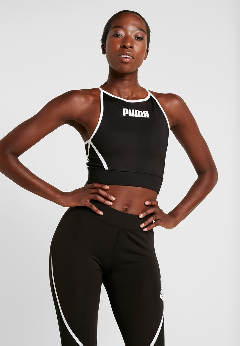 Puma - PAMELA  REIF X PUMA CROP TOP - Sports shirt - black