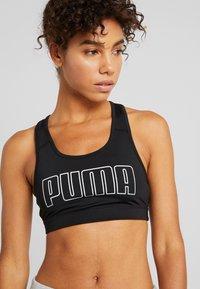 Puma - 4KEEPS BRA - Sports bra - black/white/metallic silver - 4