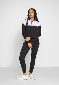 Puma - COLORBLOCK TRICOT SUIT - Tracksuit - black - 0