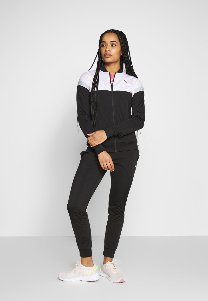 Puma - COLORBLOCK TRICOT SUIT - Tracksuit - black
