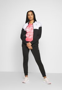 Puma - COLORBLOCK TRICOT SUIT - Tracksuit - black - 1