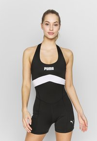 Puma - NEON BRIGHTS ACTIVE BODYSUIT - Tuta - black - 0