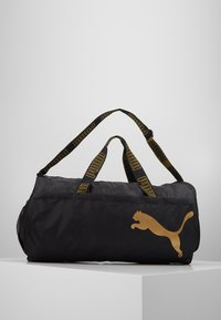 Puma - BARREL BAG - Sporttasche - black/metallic gold - 0