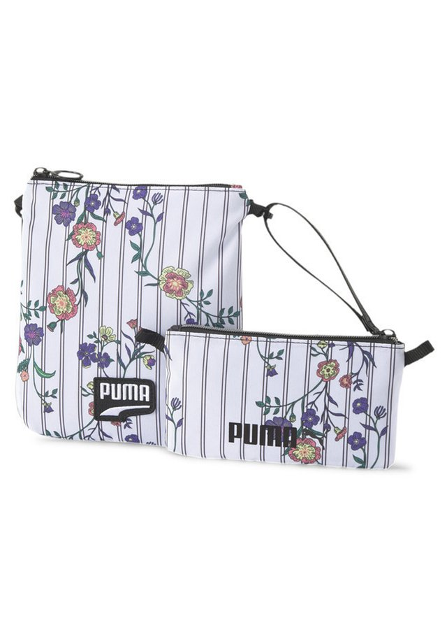 Across body bag - white-black-flower aop