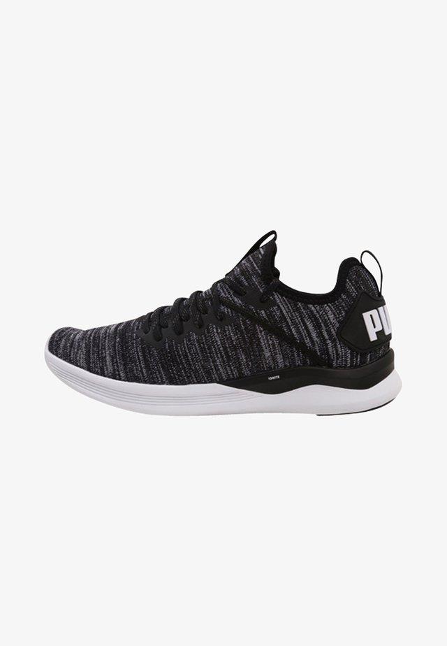 IGNITE FLASH EVOKNIT - Sports shoes - puma black/asphalt/puma white