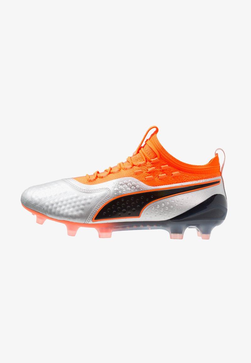 Puma - ONE 1 FG/AG - Scarpe da calcetto con tacchetti - silver/shocking orange/black