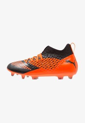 FUTURE 2.3 NETFIT FG/AG - Moulded stud football boots - black/shocking orange