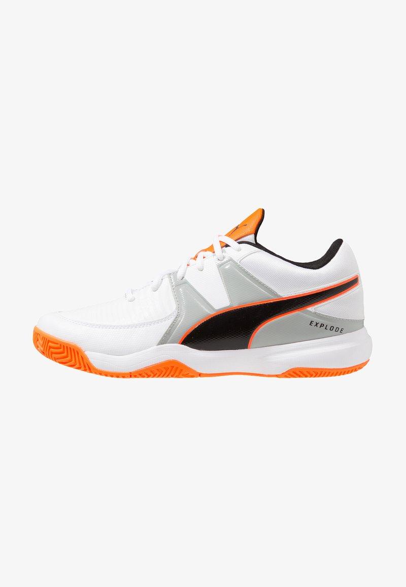 Puma - EXPLODE 3 - Handballschuh - white/quarry/shocking orange