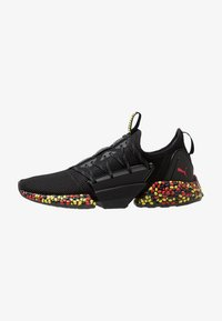 Puma - HYBRID ROCKET RUNNER - Laufschuh Neutral - black/blazing yellow/high risk red - 0