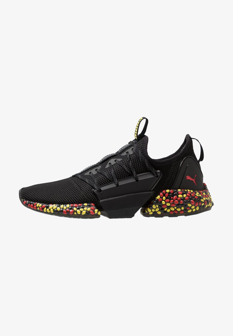 Puma - HYBRID ROCKET RUNNER - Laufschuh Neutral - black/blazing yellow/high risk red