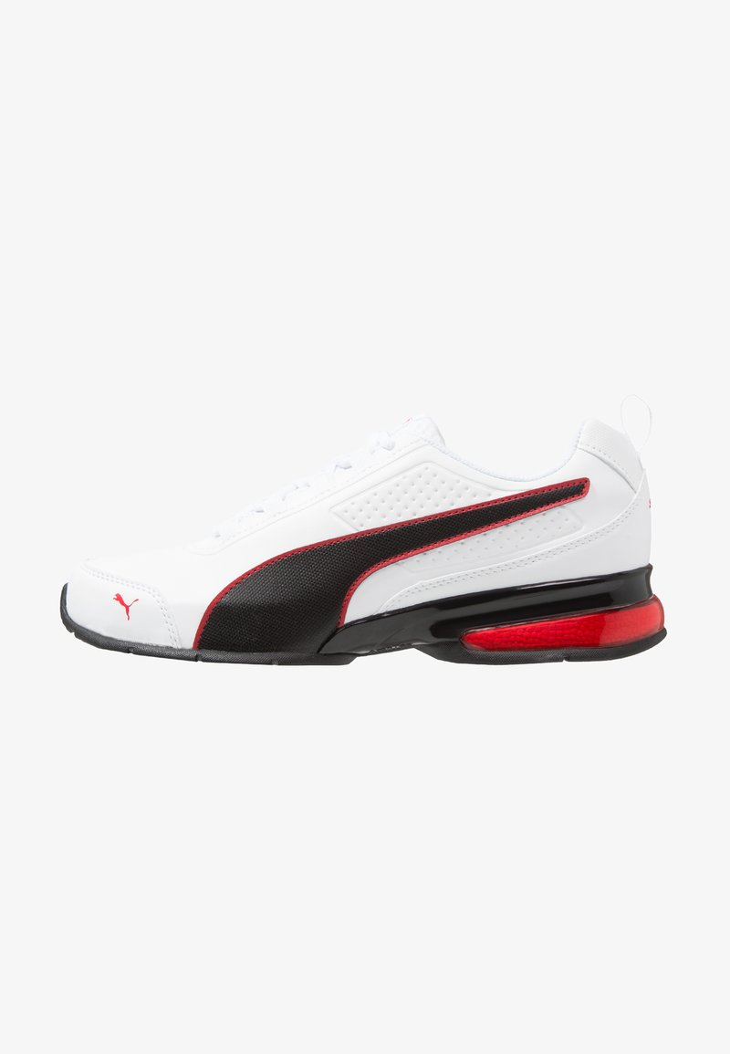 Puma - LEADER - Trainings-/Fitnessschuh - white/black/flame scarlet