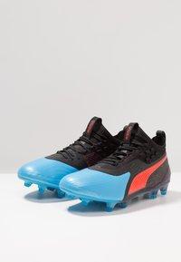 Puma - ONE 19.1 FG/AG - Chaussures de foot à crampons - bleu azur/red blast/black - 2
