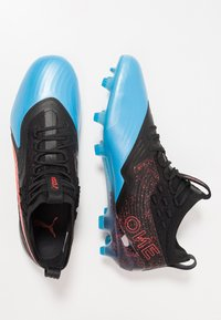 Puma - ONE 19.1 FG/AG - Chaussures de foot à crampons - bleu azur/red blast/black - 1