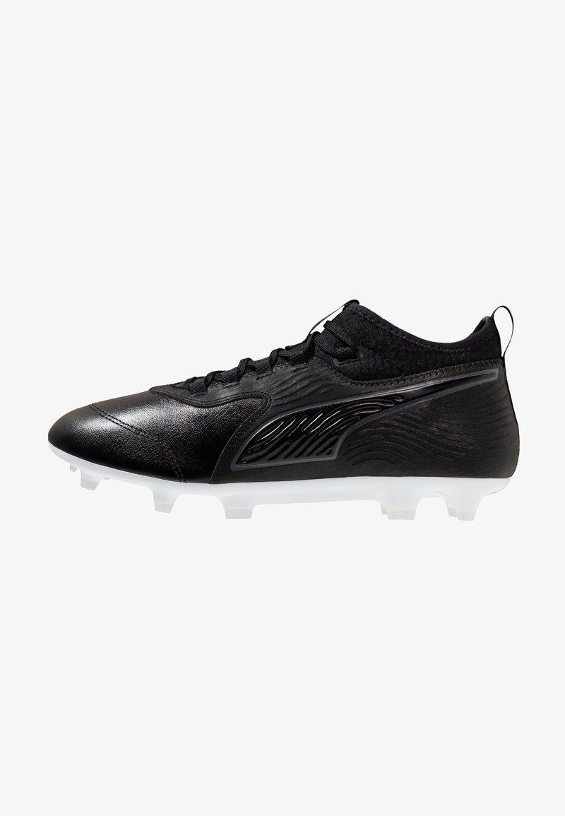Puma - PUMA ONE 19.3 FG/AG - Fußballschuh Nocken - black/white