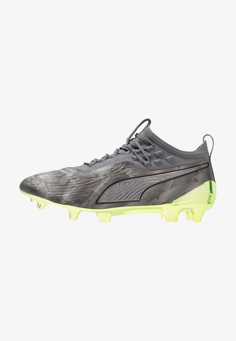 Puma - ONE 19.1 LTD.ED. FG/AG - Fußballschuh Nocken - aged silver/charcoal gray/fizzy yellow