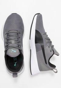 Puma - FLYER RUNNER - Obuwie do biegania treningowe - charcoal gray/black/blue turquoise - 1