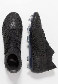 Puma - FUTURE 4.1 NETFIT FG/AG - Fotbollsskor fasta dobbar - black/aged silver - 1