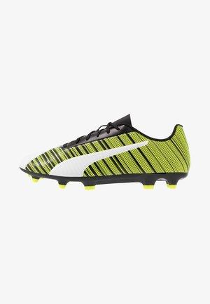 ONE 5.4 FG/AG - Chaussures de foot à crampons - white/ black/yellow alert