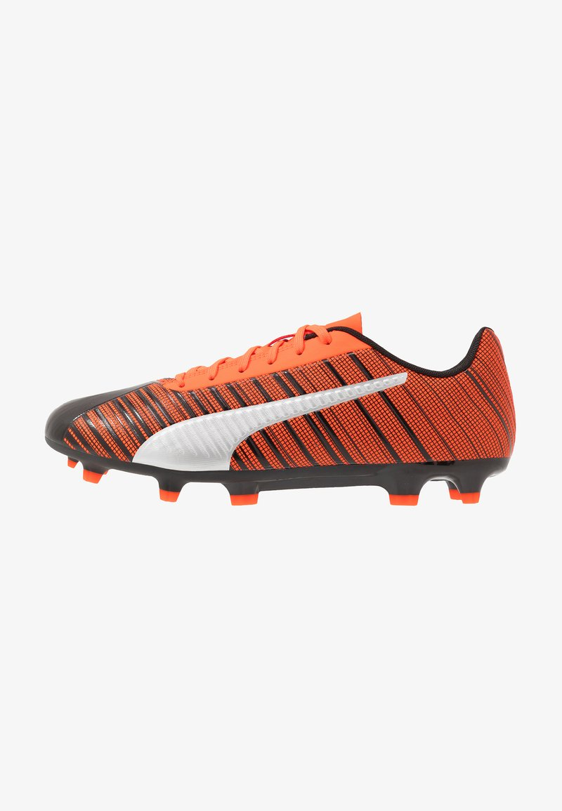 Puma - ONE 5.4 FG/AG - Fußballschuh Nocken - black/nrgy red/aged silver