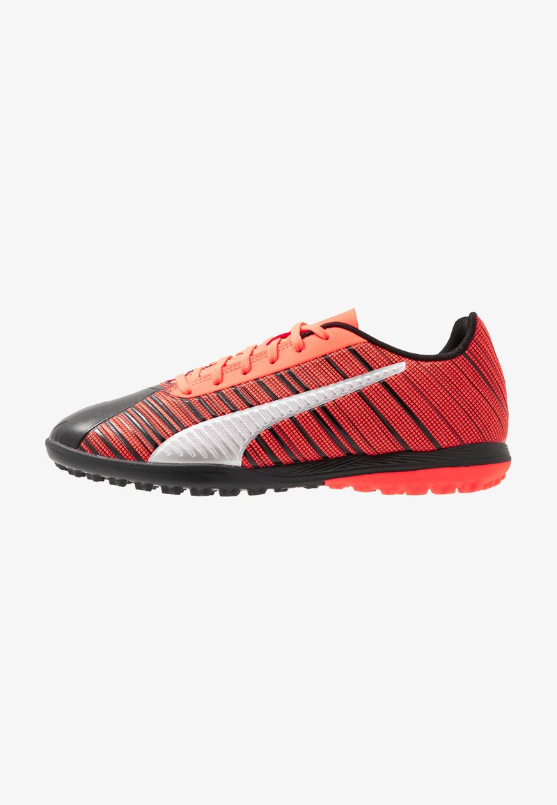 Puma - ONE 5.4 TT - Astro turf trainers - black/nrgy red/aged silver
