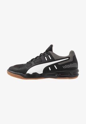 AURIZ - Handball shoes - black/white/castlerock