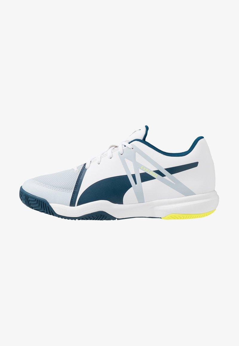 Puma - EXPLODE XT 3 - Handballschuh - white/grey dawn/safety yellow/gibraltar sea