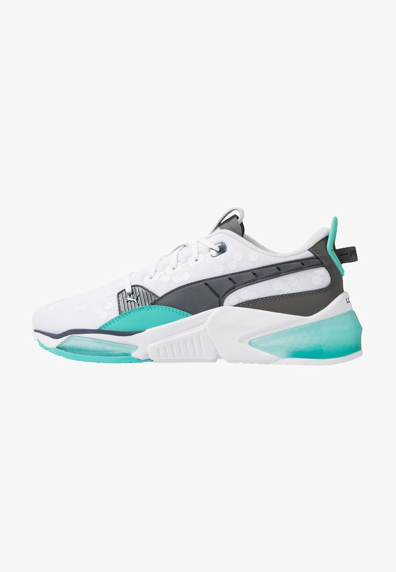 Puma - LQDCELL OPTIC - Zapatillas de running neutras - white/blue turquoise