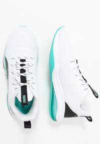 Puma - LQDCELL TENSION - Sports shoes - white/blue turquoise - 1