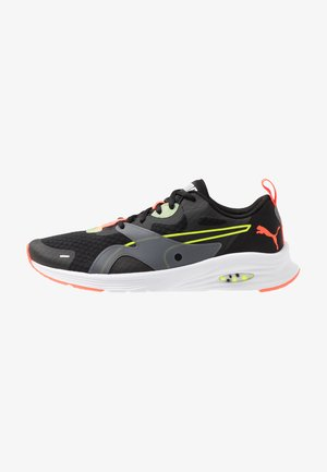 HYBRID FUEGO - Zapatillas de running neutras - black/yellow alert
