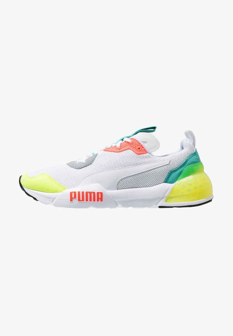 Puma - CELL PHANTOM - Zapatillas de running neutras - white/blue turquoise/nrgy red/castle