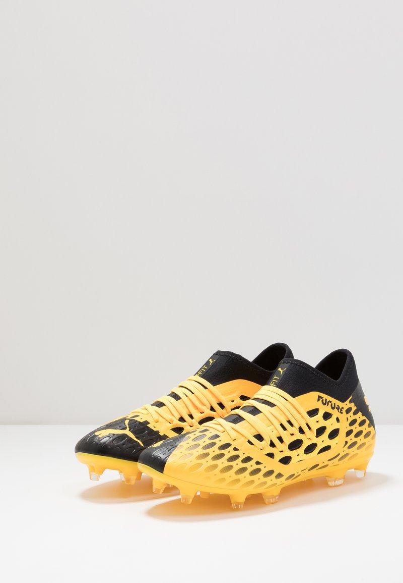 Puma FUTURE 5.3 NETFIT FG/AG - Fotballsko - ultra yellow/black