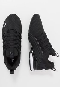 Puma - AXELION BLOCK - Obuwie treningowe - black/white - 1
