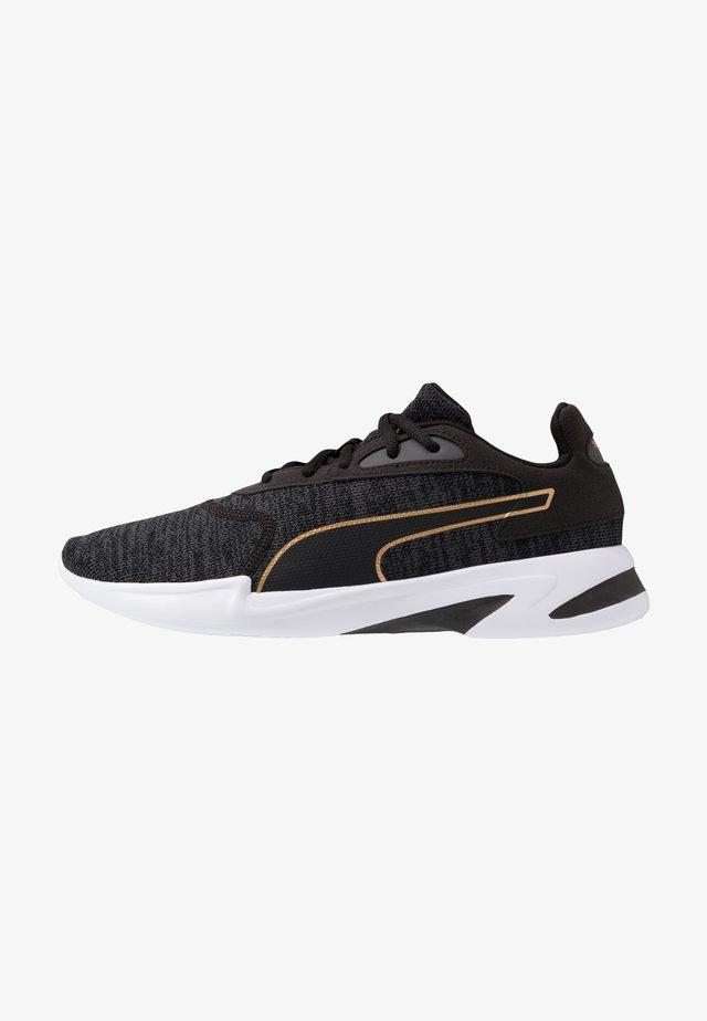 JARO KNIT - Sneaker low - black/castlerock/team gold
