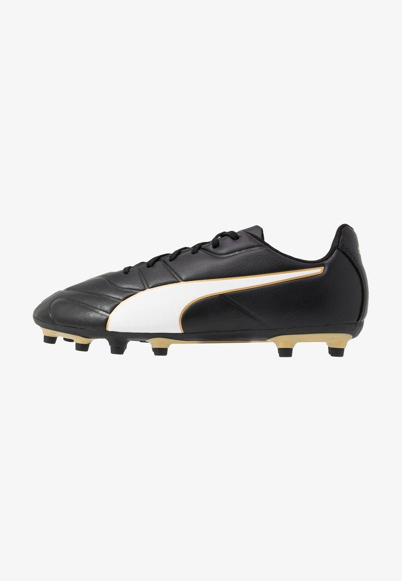Puma - CLASSICO C II FG - Fodboldstøvler m/ faste knobber - black/white/gold