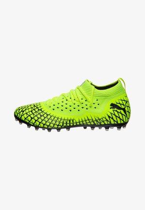 NETFIT MG FUSSBALL - Chaussures de foot à crampons - yellow alert /black