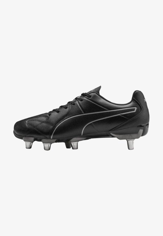 Voetbalschoenen met kunststof noppen - black-puma aged silver