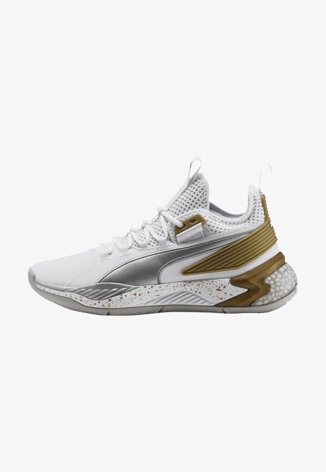 Basketbalschoenen - puma white-metallic silver