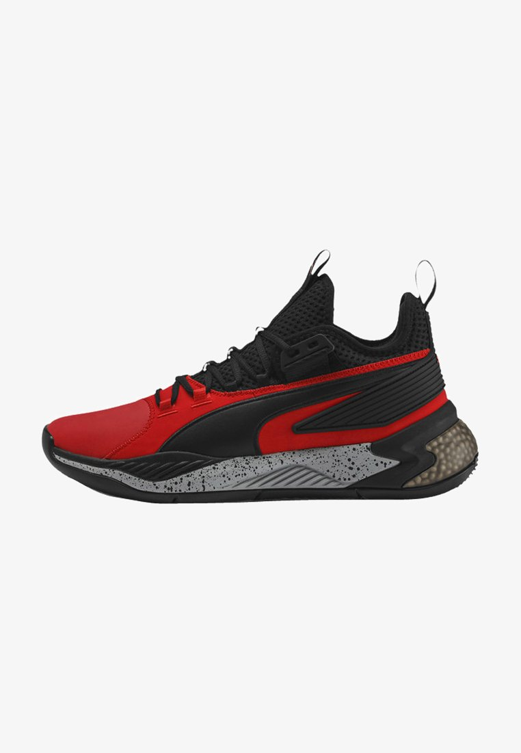 Puma - Basketball shoes - high risk red-puma black
