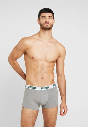 BASIC SHORTBOXER 2 PACK - Underkläder - dark green/grey