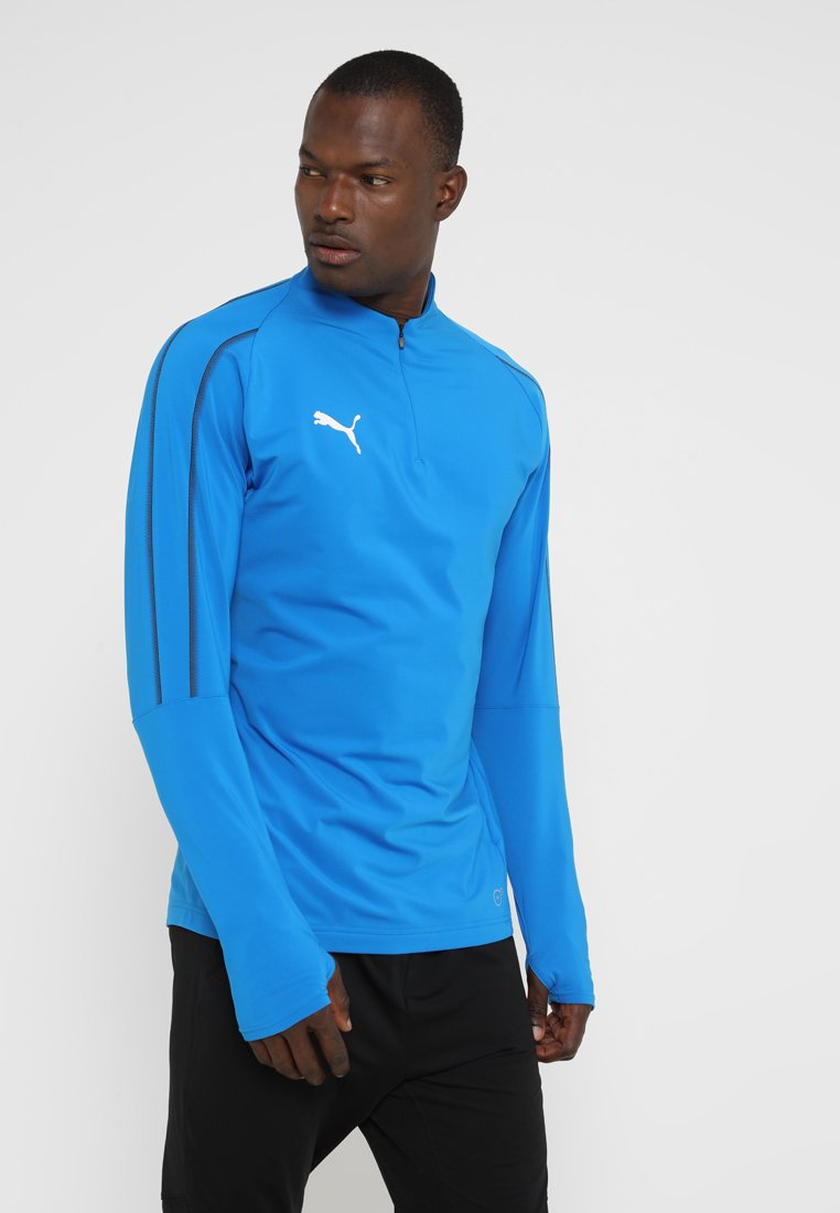 Puma - FINAL TRAINING ZIP  - Sweatshirt - electric blue lemonade/black