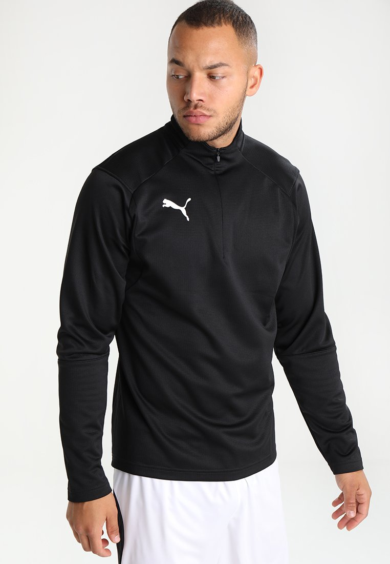 Puma - LIGA TRAINING ZIP - Sports shirt - black/white