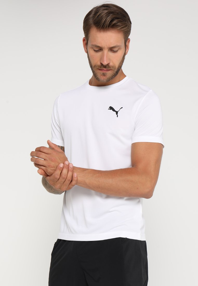 Puma - ACTIVE TEE - T-shirt - bas - white