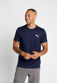 Puma - ACTIVE TEE - T-shirt basique - peacoat - 0