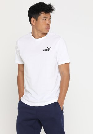 SMALL LOGO TEE - T-shirt basic - puma white