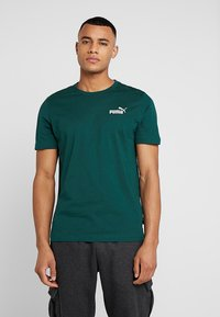 Puma - SMALL LOGO TEE - T-shirt basic - green - 0