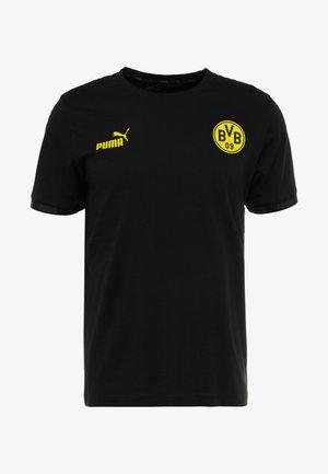BVB BORUSSIA DORTMUND CULTURE TEE - Klubové oblečení - black